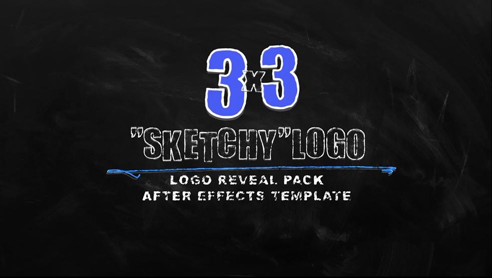 "Chalkboard Logo Reveal Pack ""Sketchy"""
