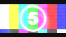 Glitch Logo reveal, countdown tv static noise Intro.