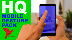 HQ mobile touch screen gesture pack