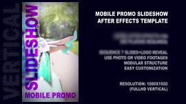 Vertical full hd promo & presentation slideshow. Vertical template for mobile screen.
